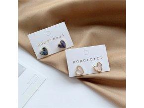 sweet acrylic heart stud earrings delica main 0