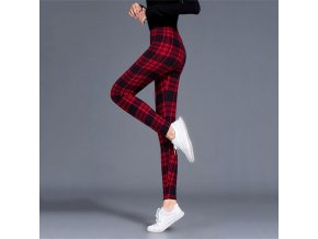 Wine Red Black Grid women leggings grid print exercise fitne variants 1