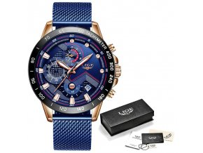 Rose gold blue lige 2020 new fashion mens watches with variants 5