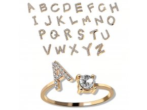 a z letter gold color metal adjustable o description 44