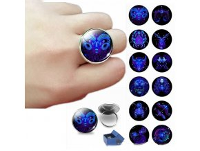 12 constellation ring zodiac art jewelry main 0