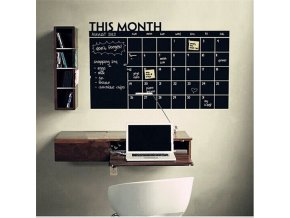 60 92 cm monthly calendar chalkboard wall main 2