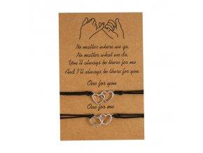 Double Heart new charm bracelet for friendship couple variants 3