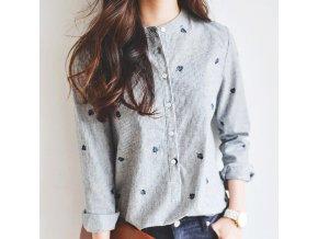 Stylová dámská košile s pírky