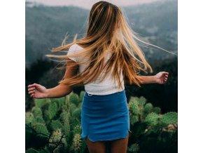 Stylová mini sukně džínová