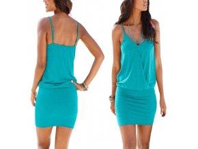 Modré letní šaty