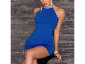 Dámské mini letní šaty modré