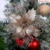 10cm Champagne pcs glitter christmas flower artificial variants 5