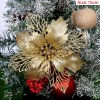 10cm Gold pcs glitter christmas flower artificial variants 0