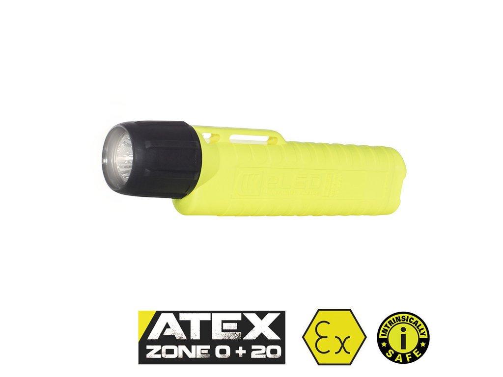UK 4AA eLED RFL, 225 lm, ATEX Zóna 0, žlutá