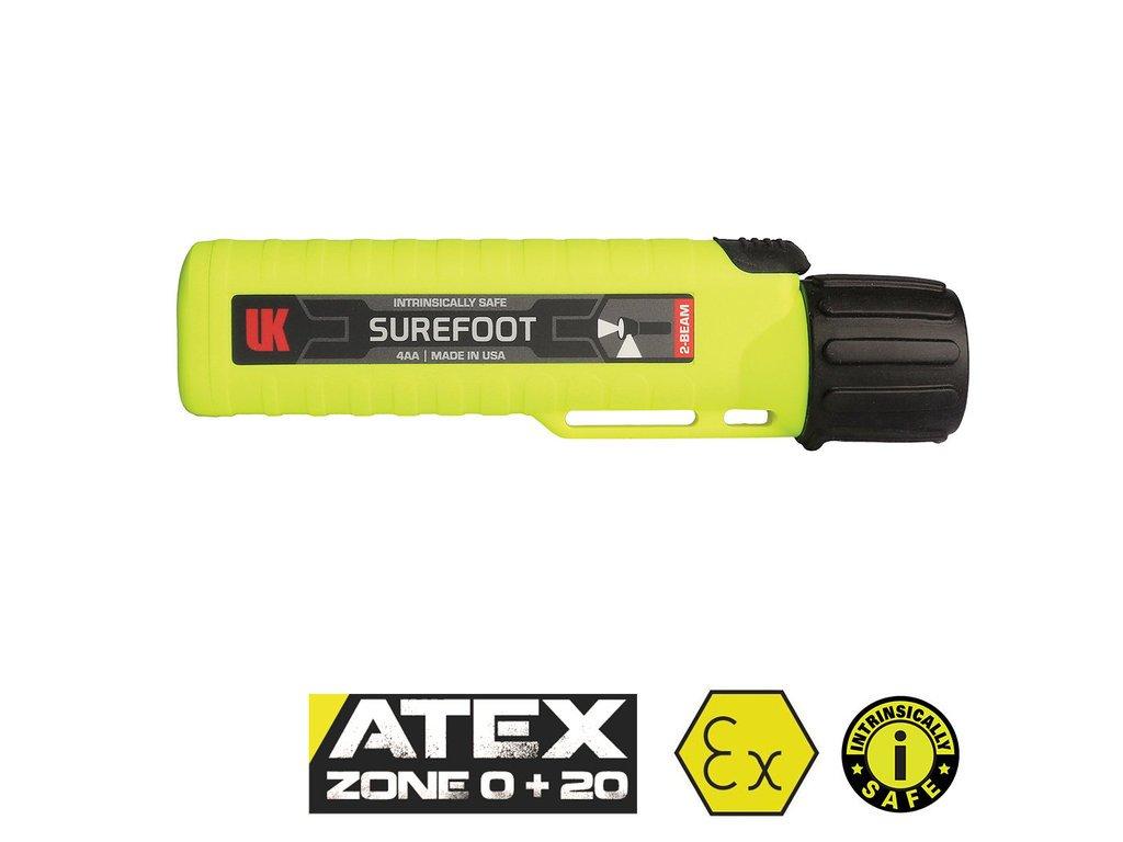 UK 4AA eLED SUREFOOT, Duální svítilna 170 lm, ATEX Zóna 0, žlutá