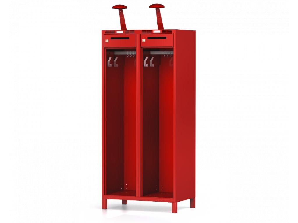 Šatní skříňka pro hasiče 1800 x 800 x 500 šuplík
