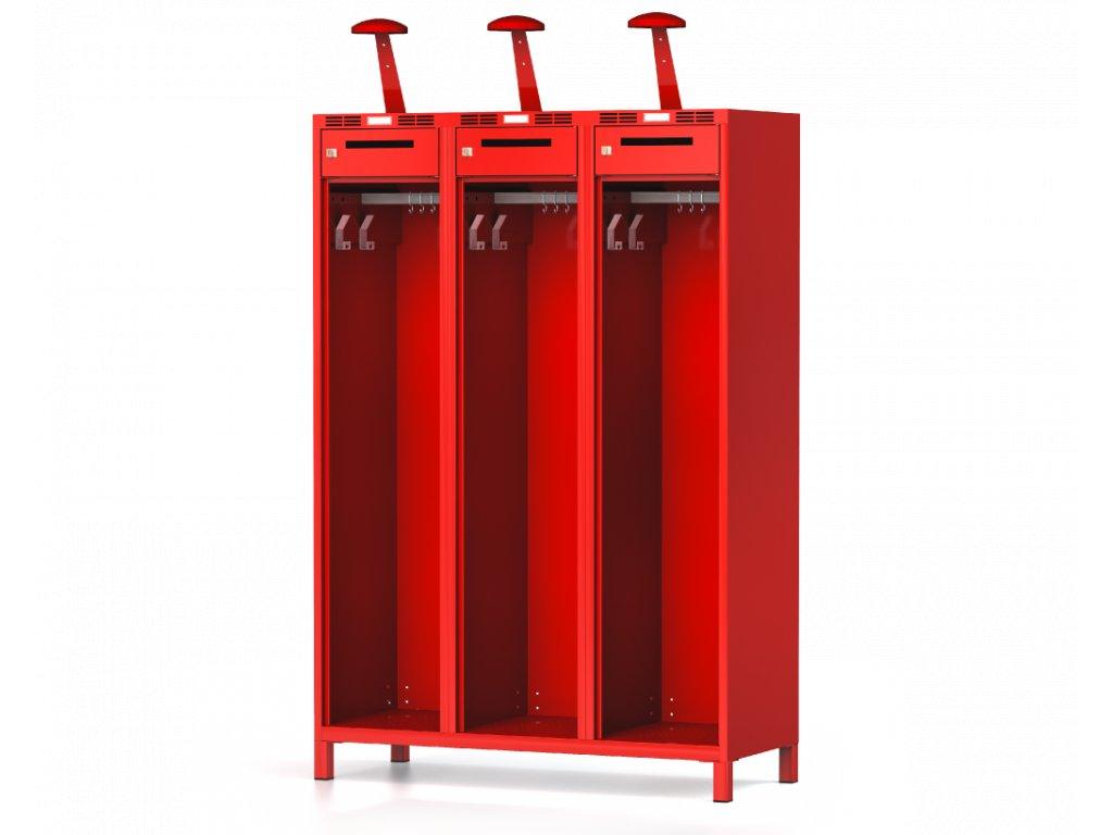 Šatní skříňka pro hasiče 1800 x 1200 x 500 šuplík