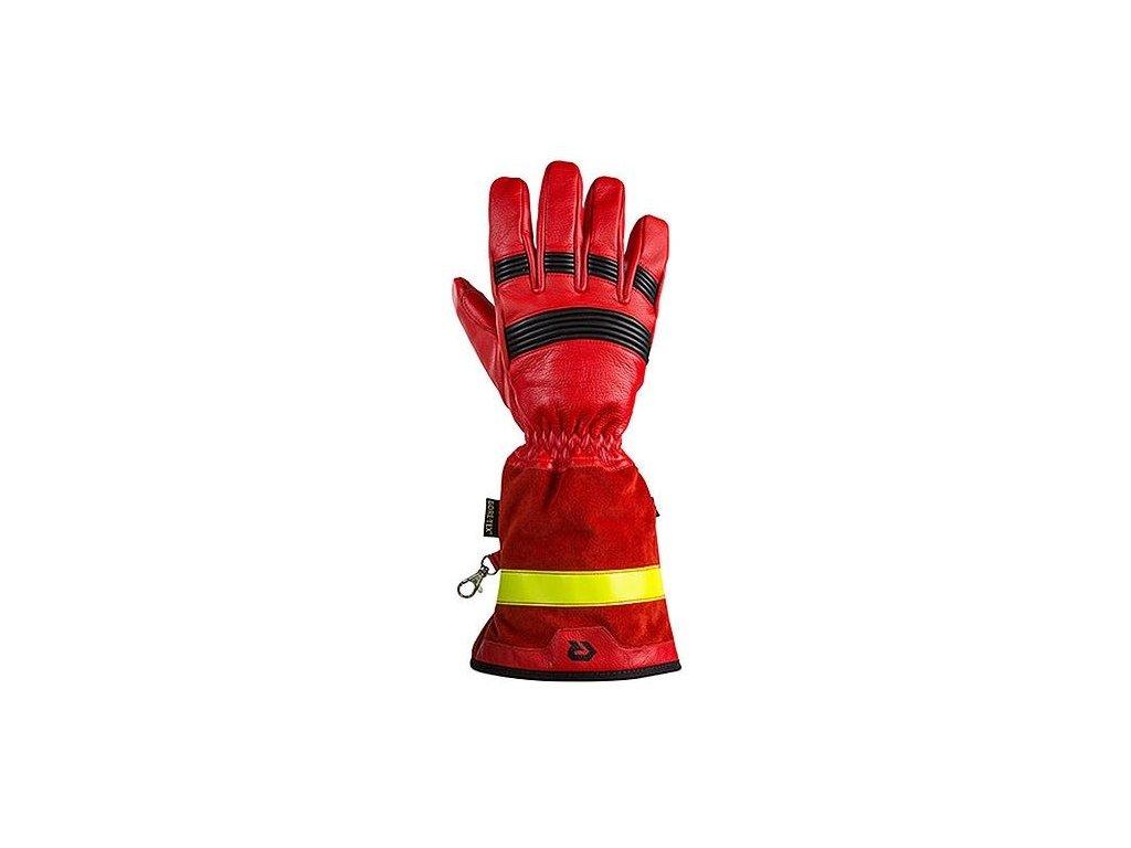 rukavice zasahove rosenbauer fire pro red s manzetou