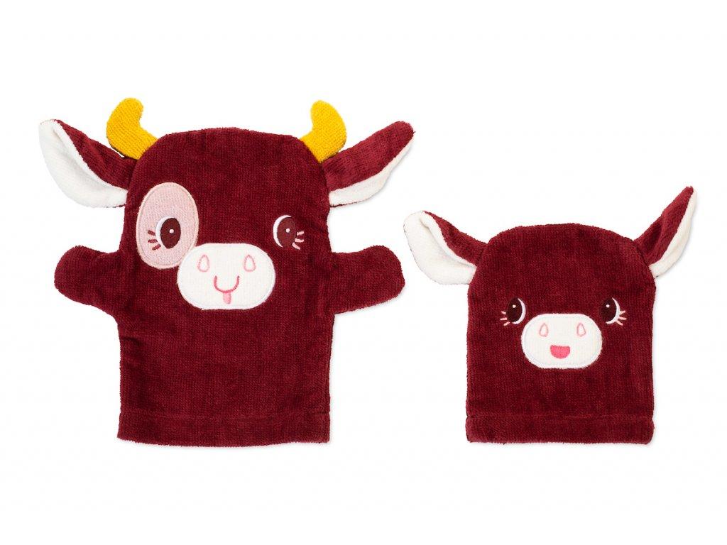 83320 Rosalie set of handpuppet wash cloths 1 BD