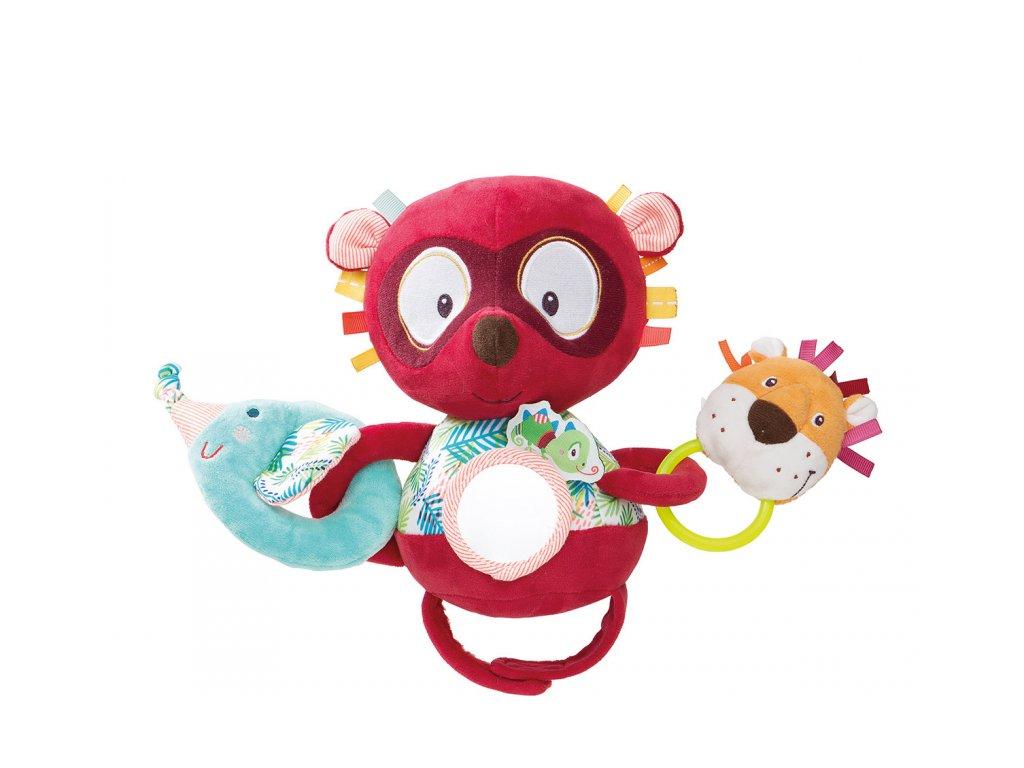 Lilliputiens - lemur Georges - hračka na kočárek