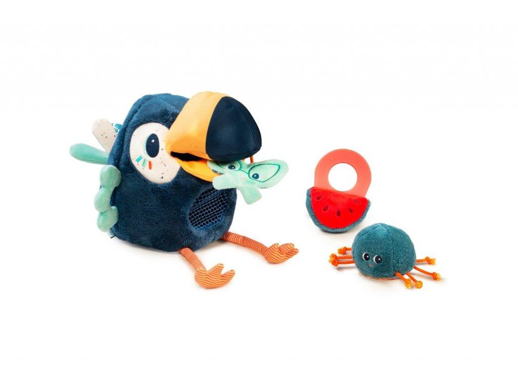 Lilliputiens - multifunkční plyšová hračka - tukan Pablo