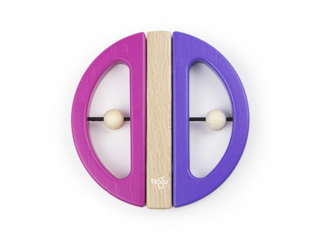 Magnetická hračka TEGU Swivel Bug Pink & Purple1