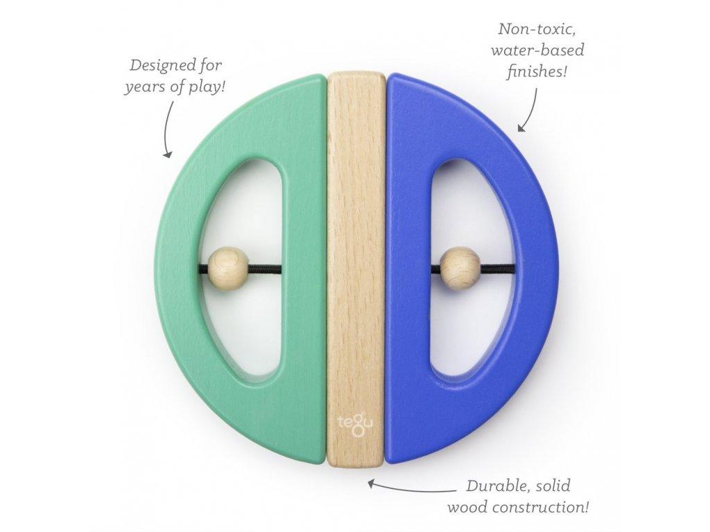 Magnetická hračka TEGU Swivel Bug Teal and Blue1