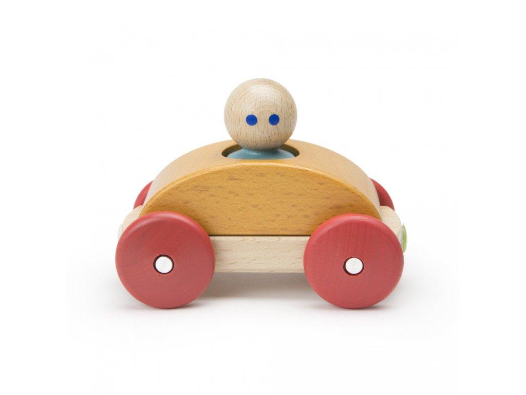 Magnetické autíčko TEGU Orange Racer1