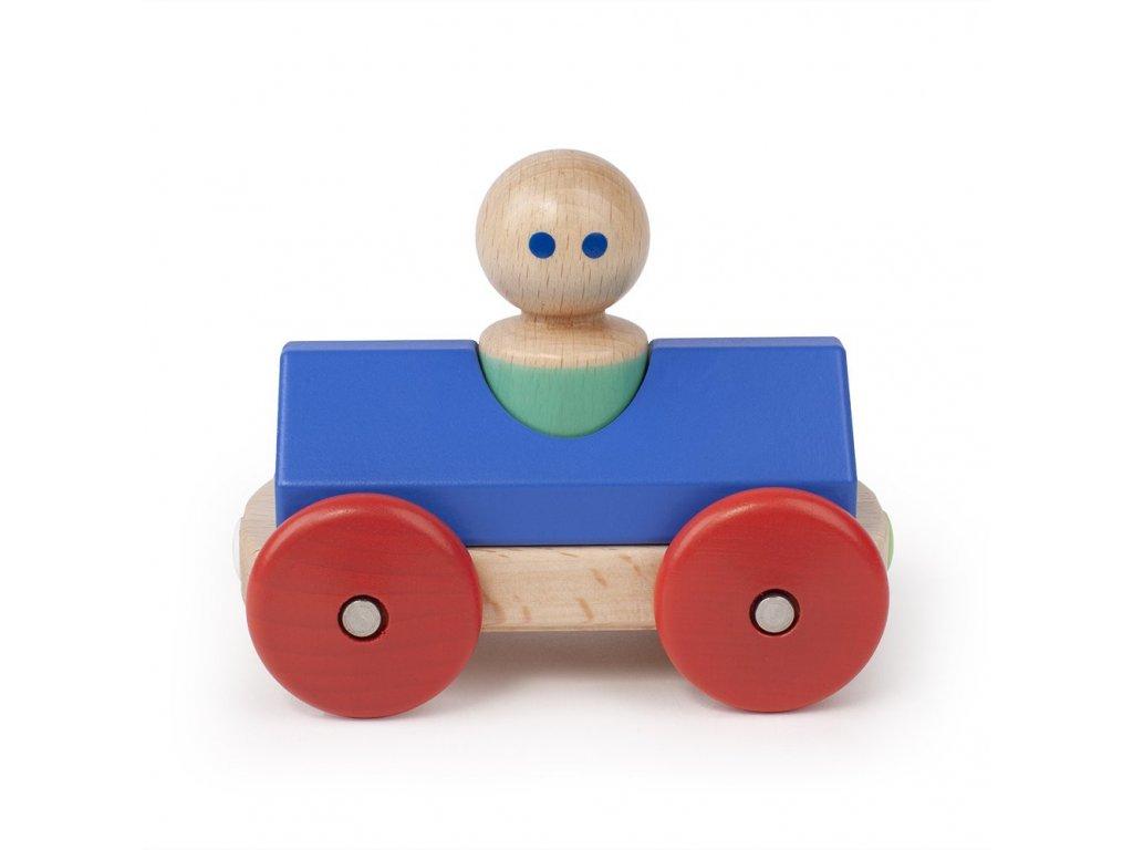 Magnetické autíčko TEGU Blue & Poppy Racer1