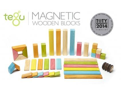 Magnetická stavebnice TEGU Tints 42 dílů1