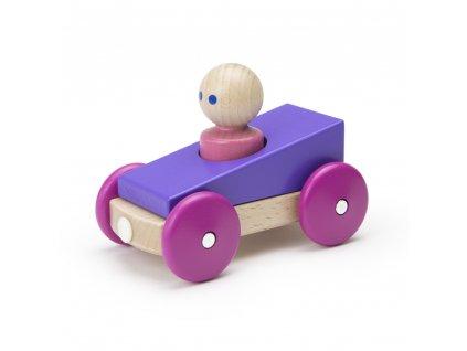 Magnetické autíčko TEGU Purple Racer1