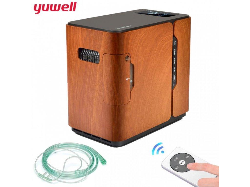 yuwell kyslikovy koncentrator yu 500 hnedy 850x850