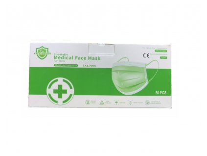 Ochranné rúško na tvár trojvrstvové MEDICAL 50 ks