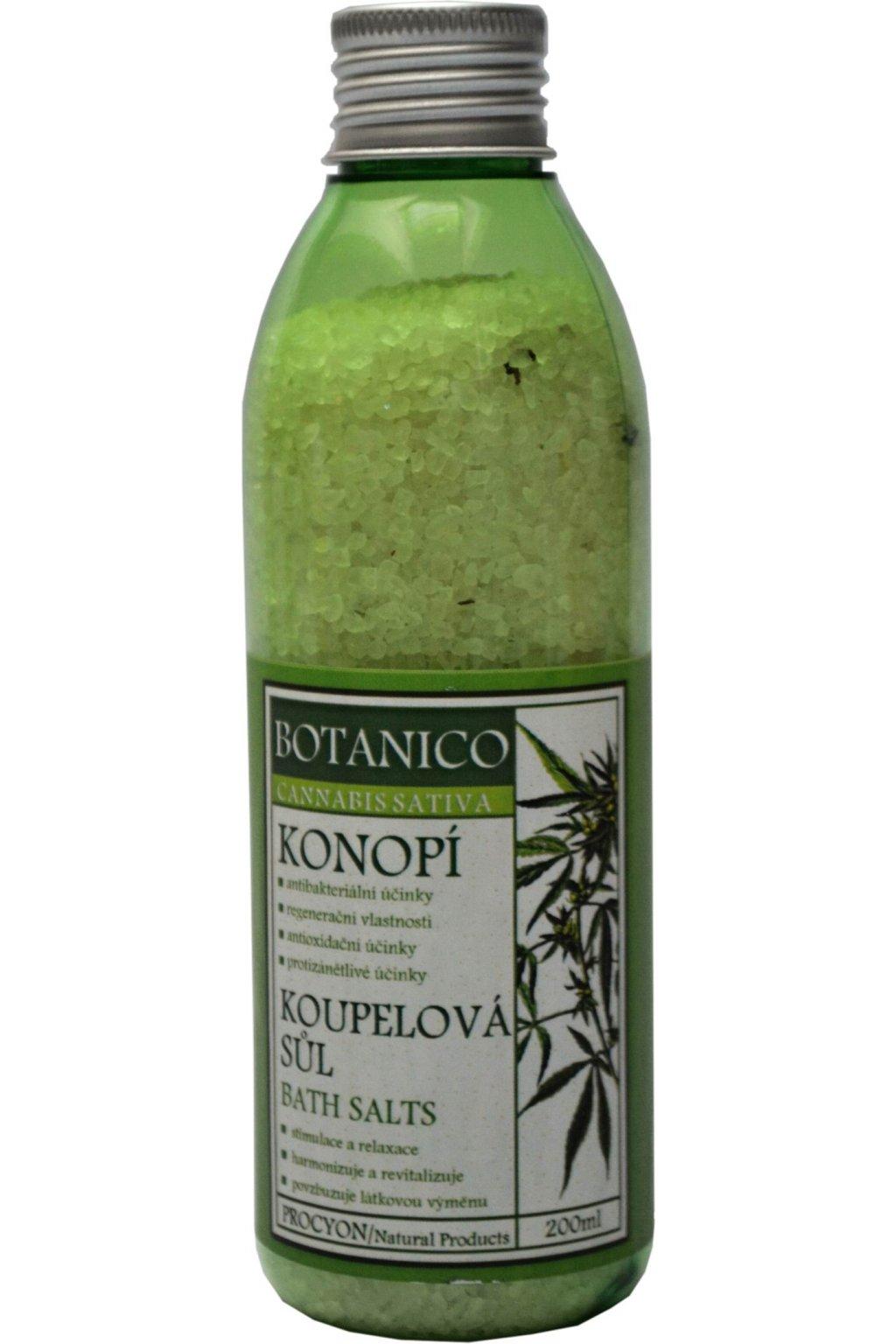 Botanico koupelová sůl s bylinkami Konopí 200 ml