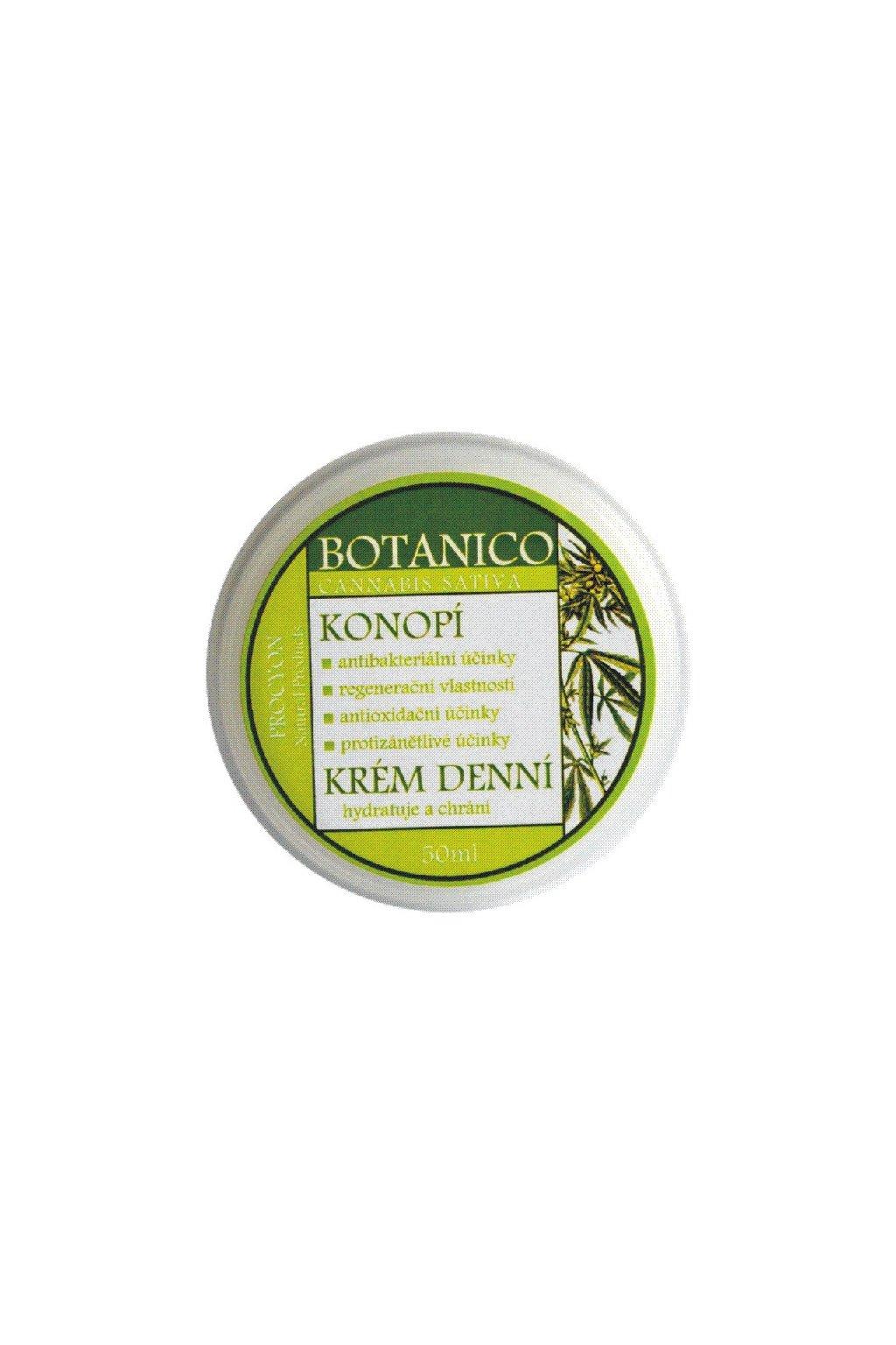 Botanico Krém denní výživný konopí 50 ml