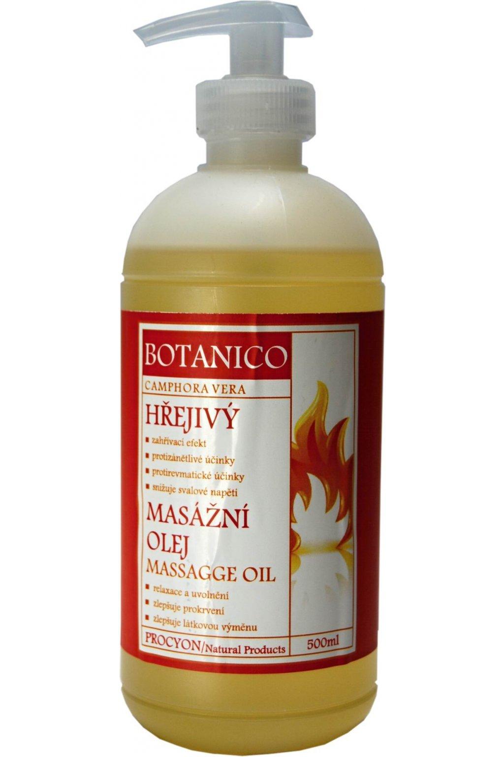 Procyon Botanico Hřejivý masážní olej 500 ml