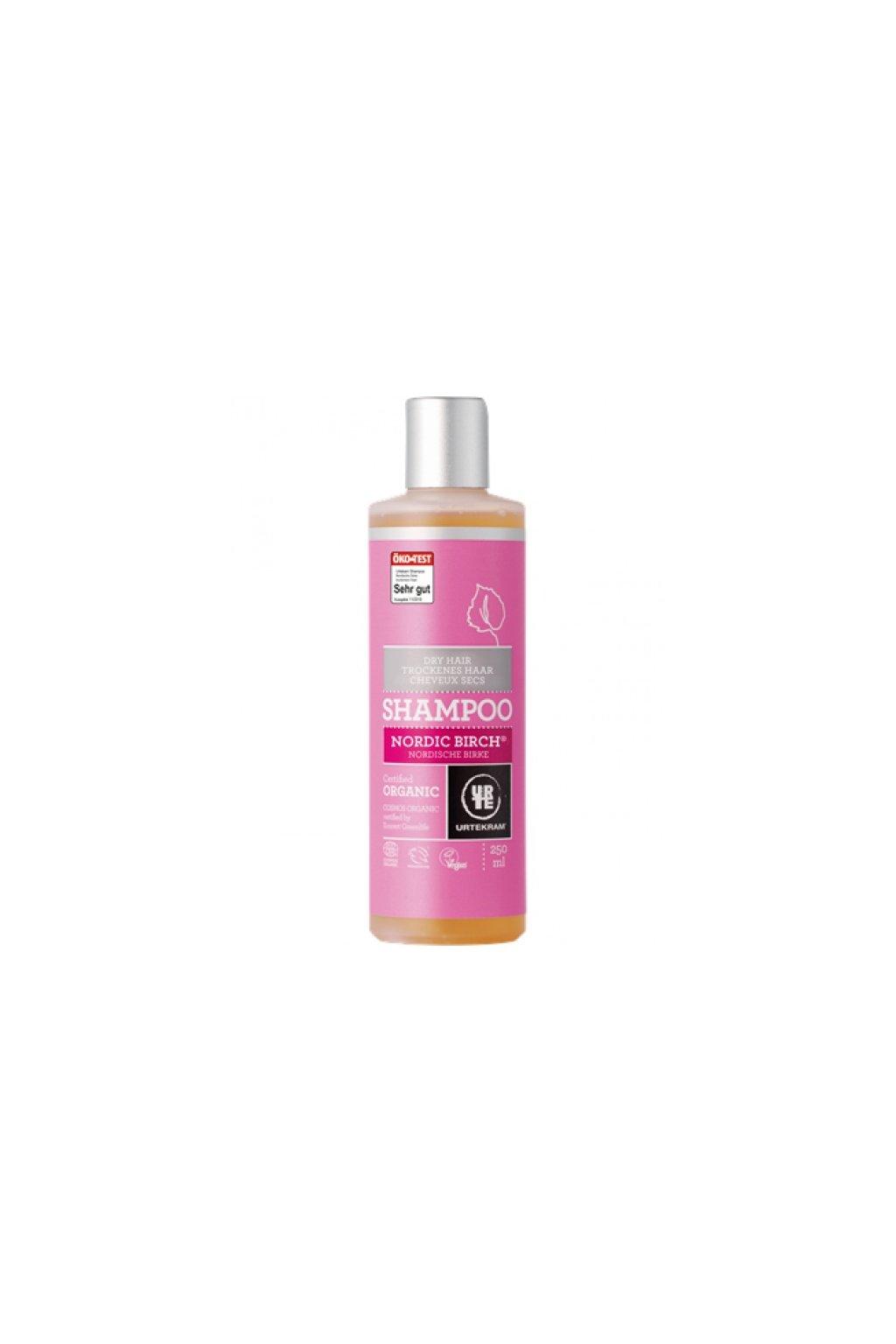 Urtekram šampon na normání až mastné vlasy, Severská bříza (varianta 500ml)