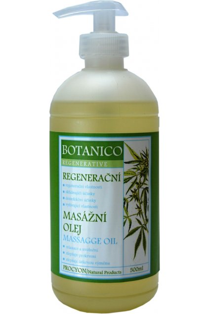 435 1 botanico masazni olej konopny regeneracni 500ml