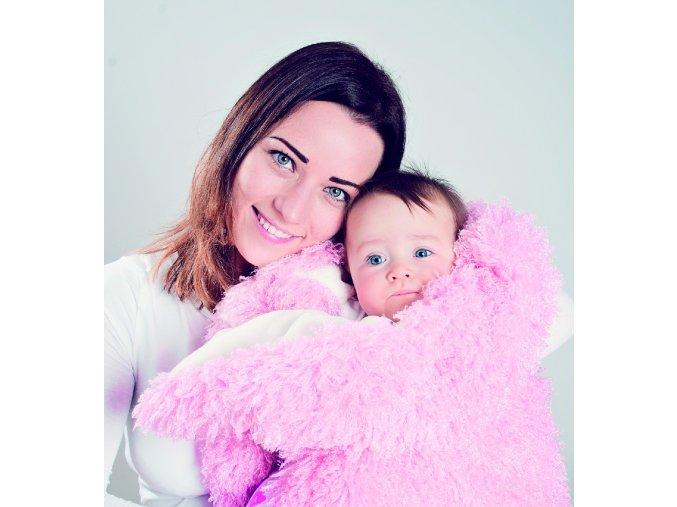 Baby Matex Timo dětská deka 75x100cm růžová