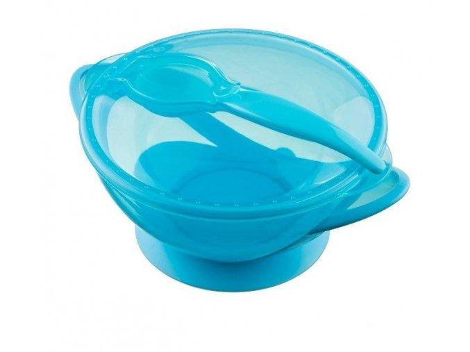 akuku miska s přísavkou modrá