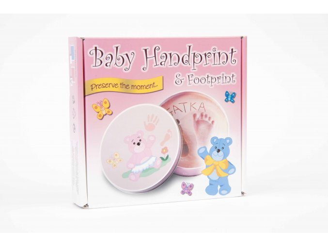 baby handprint pink fromt