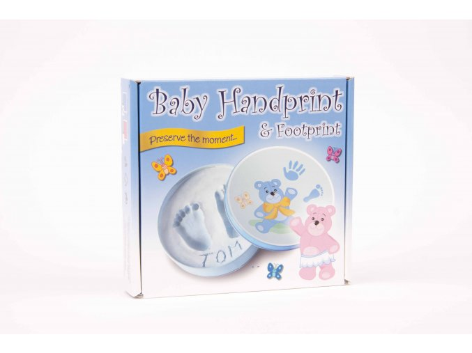 baby handprint blue front