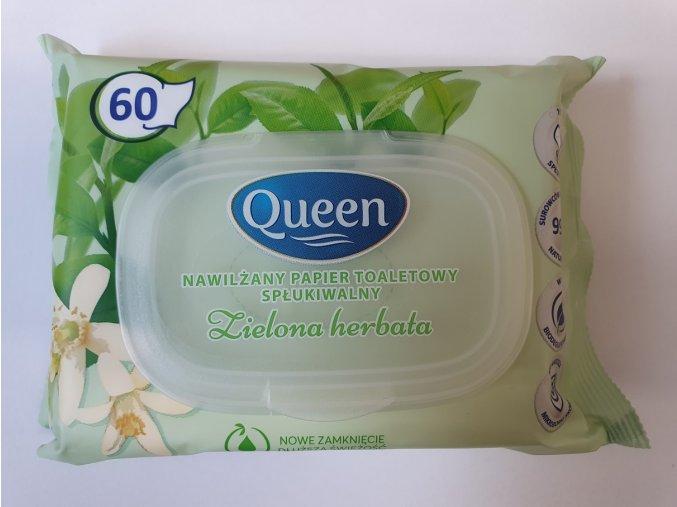 Queen vlhčený toaletní papír s plastovým uzávěrem 60ks
