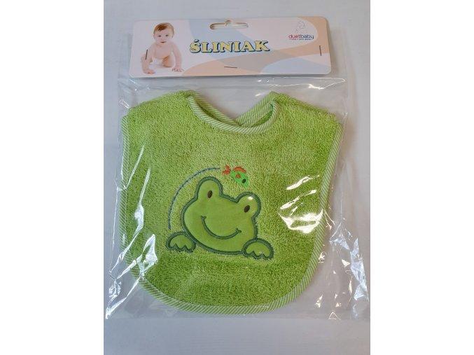 DuetBaby dětský bavlněný bryndák 2ks-zelený žabka