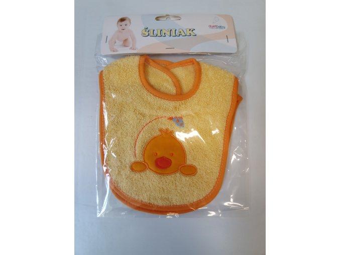 DuetBaby dětský bavlněný bryndák 2ks-oranžový kačka