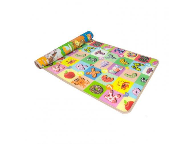 Oboustranná hrací podložka pro děti 150 x 90 x 1 cm