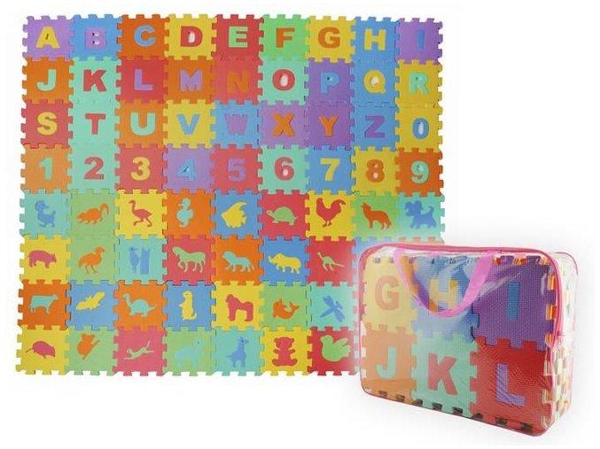 EVA Pěnové puzzle 16 x 16cm - 72 ks
