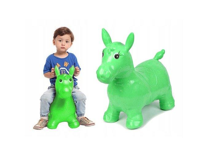 Verk Skákací nafukovací koník 60x50cm zelený