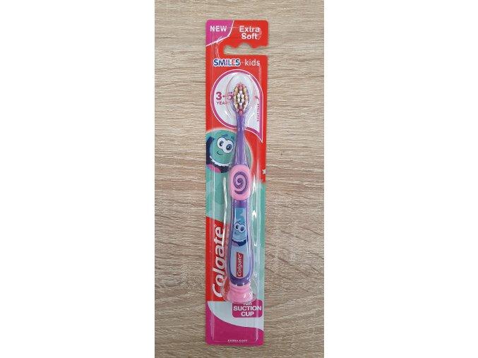 Colgate zubní kartáček Smiles 3-5 let fialový