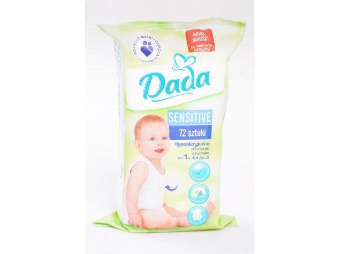 DADA dětské vlhčené ubrousky Sensitive 72 KS