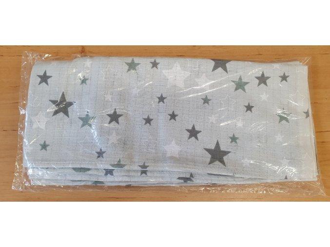 Bavlněná plenka 70x80cm, bílá hvězdičky II