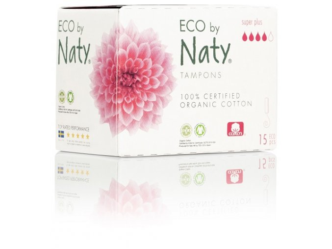 Dámské ECO tampóny Naty super plus (15 ks)
