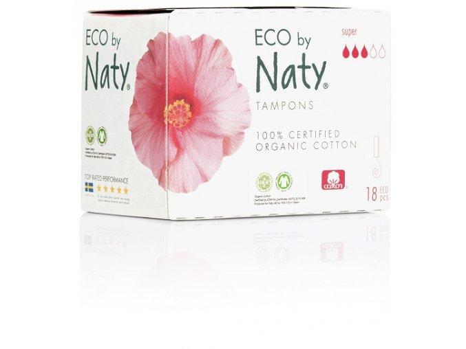 Dámské ECO tampóny Naty super (18 ks)
