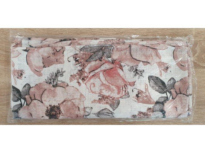 Bavlněná plenka 70x80cm, bílá růže